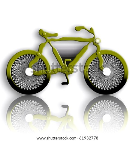 Bicycle military styled with fantastic wheels - stock photo