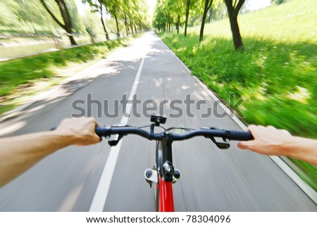 bicycle on a road - stock photo