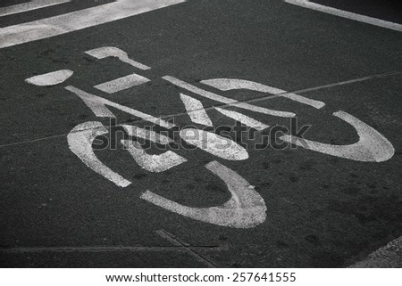 Bicycle parking lot at roadside - stock photo