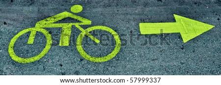 bicycle path - stock photo
