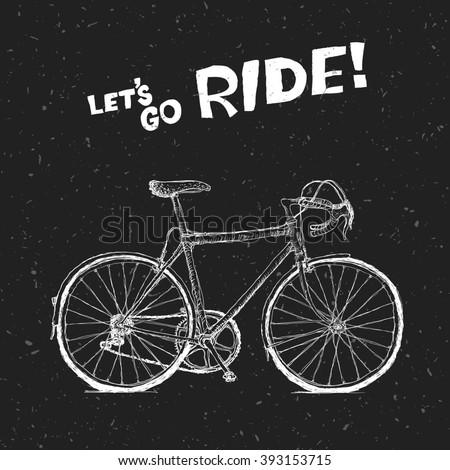 Bicycle Poster. Raster version - stock photo
