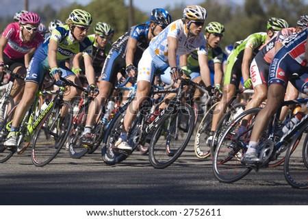 Bicycle Race - stock photo