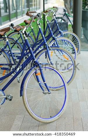 bicycle rental - stock photo