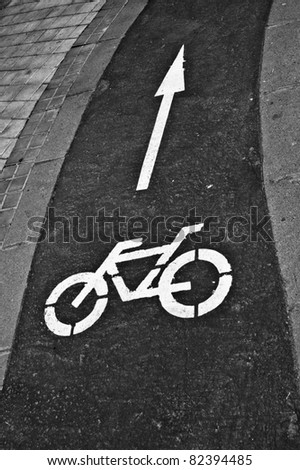 Bicycle signal - stock photo