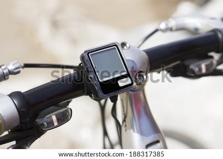 bicycle speedometer - stock photo