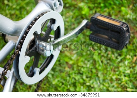 bicycle sport or recreation device on grass