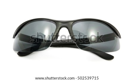 bicycle sport sunglasses on white