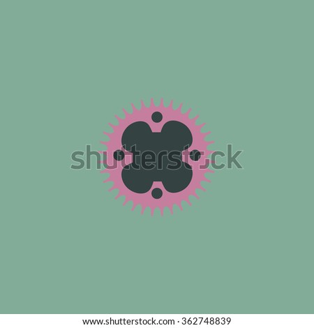 Bicycle sprocket. Simple flat color icon on colorful background - stock photo