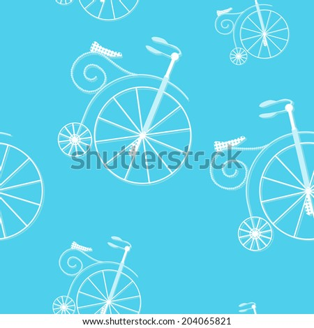 Bicycle texture, hipster background. Raster version. - stock photo