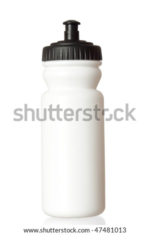 Bicycle water bottle isolated on white background - stock photo
