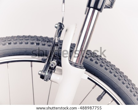 Bicycle wheel, close-up
