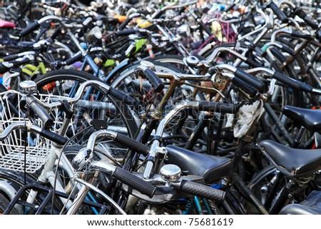 bicycles - stock photo