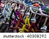 bicycles in amsterdam - stock photo