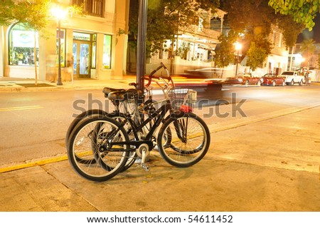 bicycles in Key West/Florida - stock photo