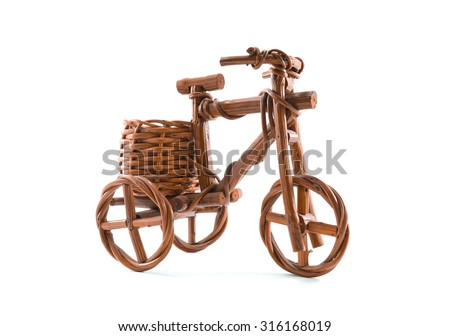 Bicycles, tricycles on White background and isolated - stock photo