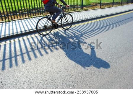 Bicyclist - stock photo