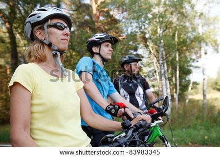 Bicyclists - stock photo