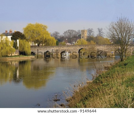 bidford upon avon warwickshire - stock photo