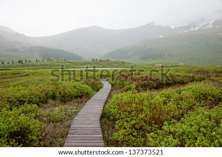 Bierstadt mountain trail in Colorado. - stock photo