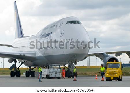 big aircraft - stock photo