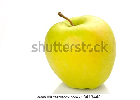 big apple isolated on a white background - stock photo