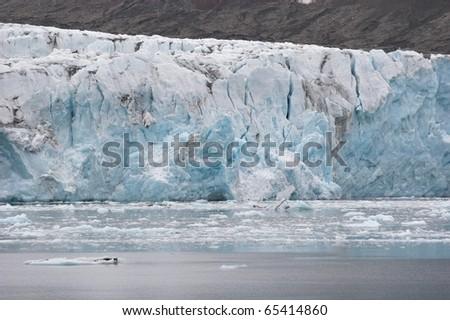 Big Arctic glacier - stock photo