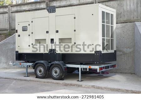 Big Backup Generator for Office Building - stock photo