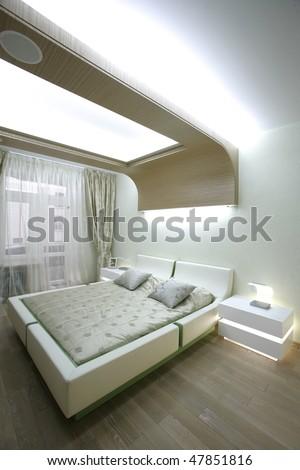 big bad in bedroom - stock photo
