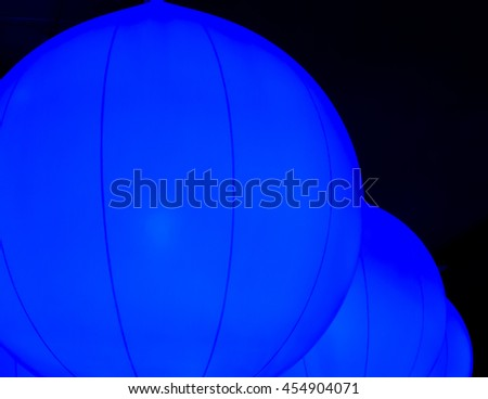 Big Balloons with Black Background