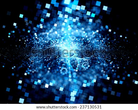 Big bang of future technologies, computer generated abstract background - stock photo
