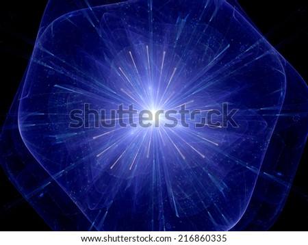 Big bang theory, computer generated abstract background - stock photo