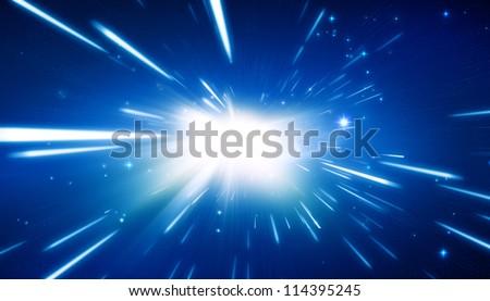 Big bang - universe background - stock photo