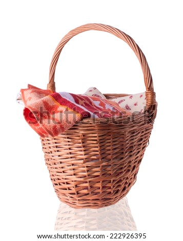 Big Basket with the Linen and Towel