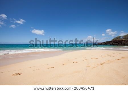 Big Beach, Maui Hawaii - stock photo
