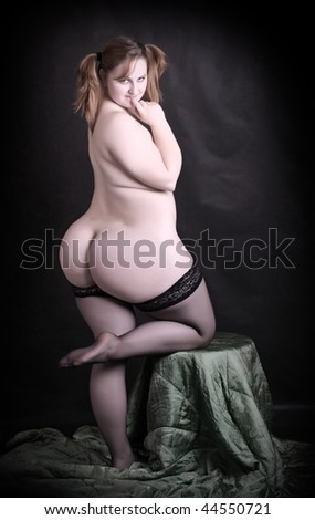 Big beautiful woman. Great photo for calendar and Valentine greetings - stock photo