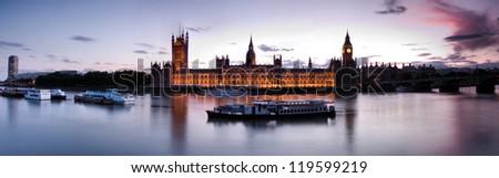 Big Ben andHouses of Parliament, London, UK - stock photo