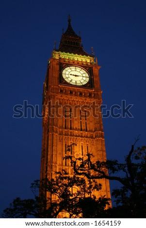 Big Ben at night - stock photo