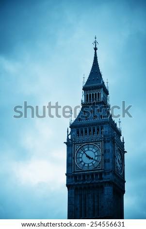 Big Ben closeup in Westminster, London. - stock photo