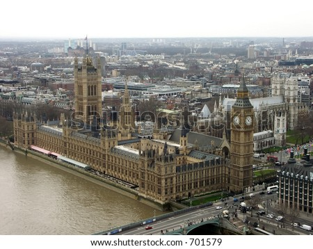 Big Ben  & Houses of Parliament - stock photo