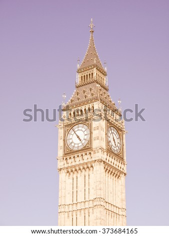Big Ben Houses of Parliament Westminster Palace London gothic architecture vintage