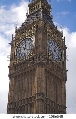Big Ben in London England - stock photo