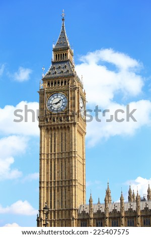 Big Ben in London, United Kingdom, uk - stock photo