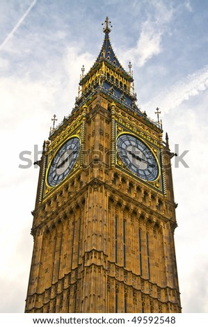 Big Ben in the city of London - stock photo