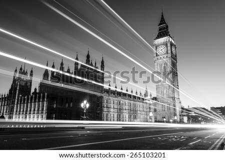 Big Ben is the nickname for the Great Bell of the clock also known as Clock Tower and Elizabeth Tower is one of the most prominent symbols of the United Kingdom. - stock photo