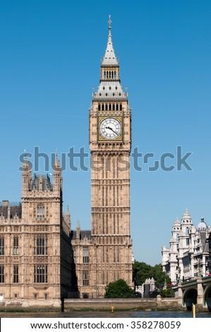 Big Ben, London, England, UK - stock photo