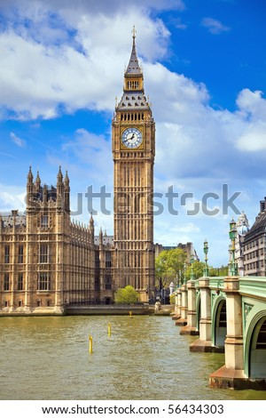 Big Ben, London, UK - stock photo