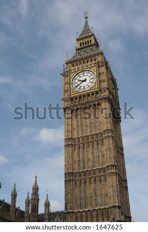 Big Ben on a slant - stock photo