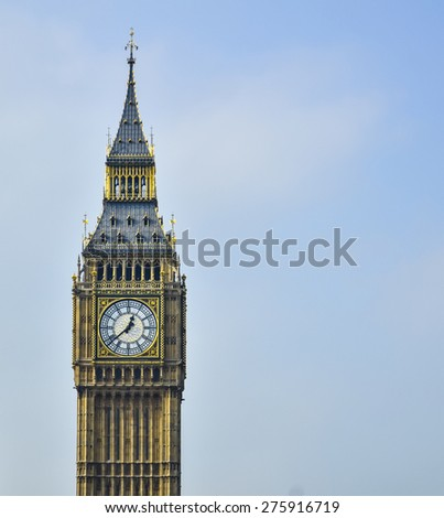 Big ben on a sunny day - stock photo