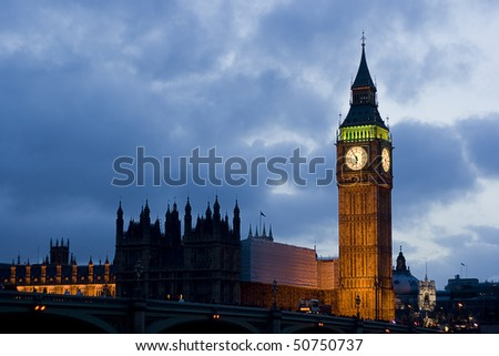 Big Ben on evening night