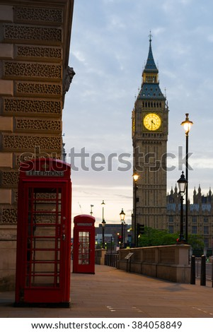 Big Ben on London - stock photo